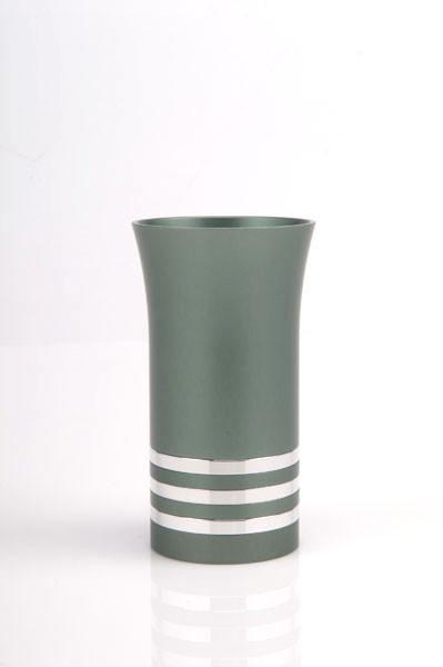 Modern Colorful Kiddush Cup - Green - Baltinester Jewelry