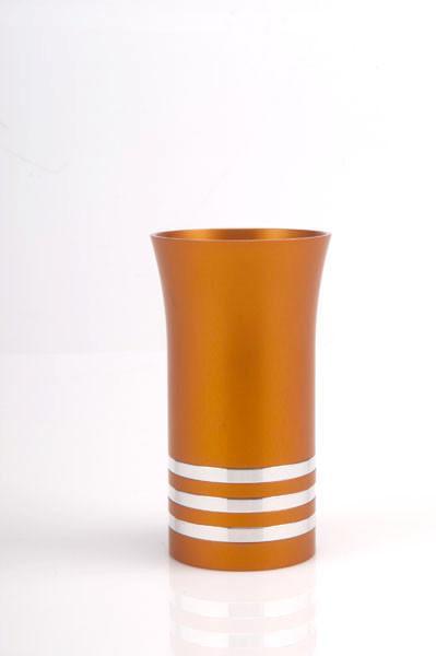 Modern Colorful Kiddush Cup - Orange - Baltinester Jewelry