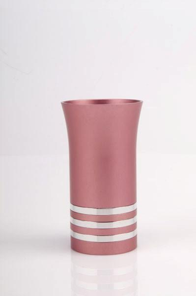 Modern Colorful Kiddush Cup - Pink - Baltinester Jewelry
