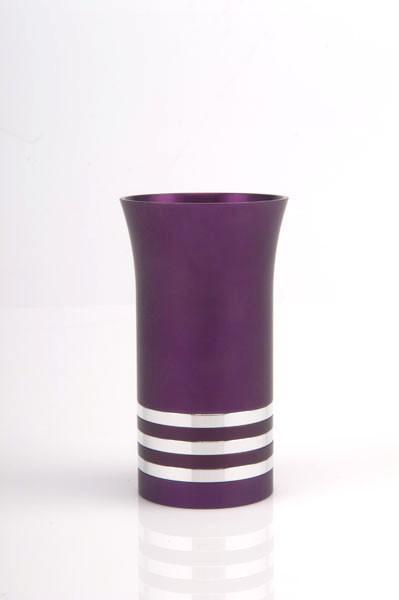 Modern Colorful Kiddush Cup - Purple - Baltinester Jewelry