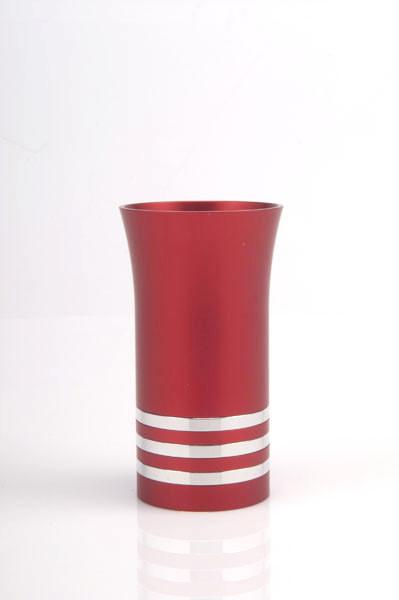 Modern Colorful Kiddush Cup - Red - Baltinester Jewelry