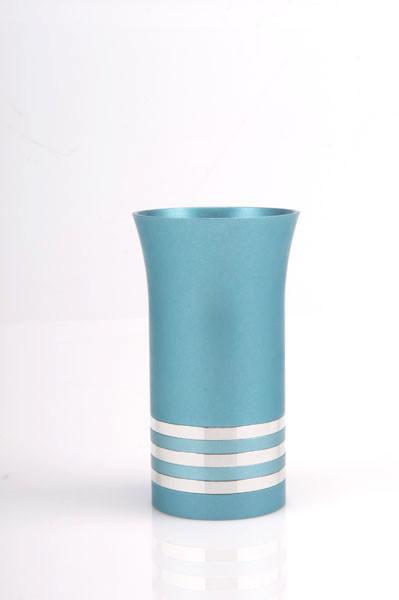 Modern Colorful Kiddush Cup - Teal - Baltinester Jewelry