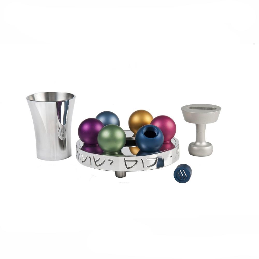 Shiny Multicolored Havdalah Set - Baltinester Jewelry