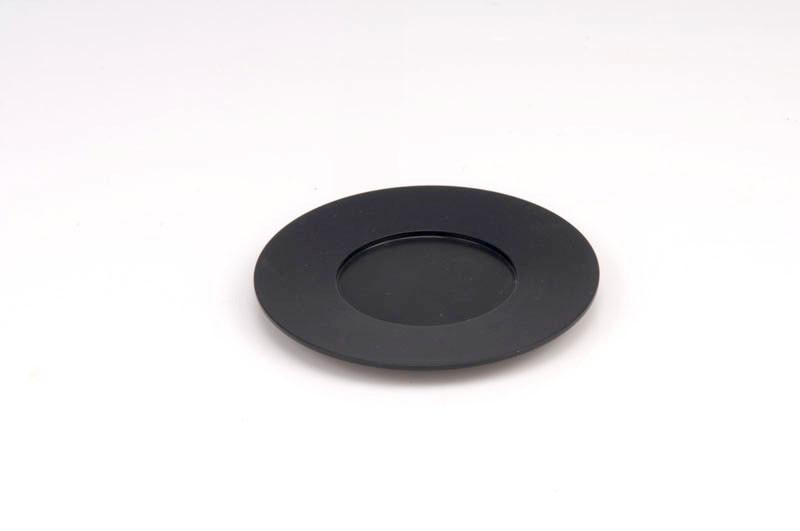 Single Kiddush Cup Plate - Black - Baltinester Jewelry