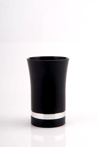 Modern-Style Small Kiddush Cup - Black - Baltinester Jewelry