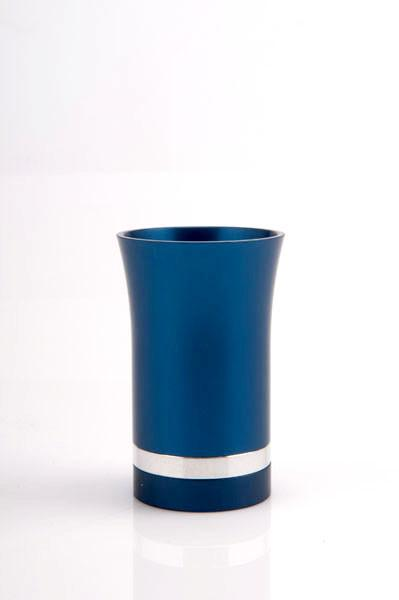 Modern-Style Small Kiddush Cup - Blue - Baltinester Jewelry