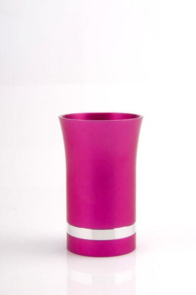 Modern-Style Small Kiddush Cup - Bright Pink - Baltinester Jewelry