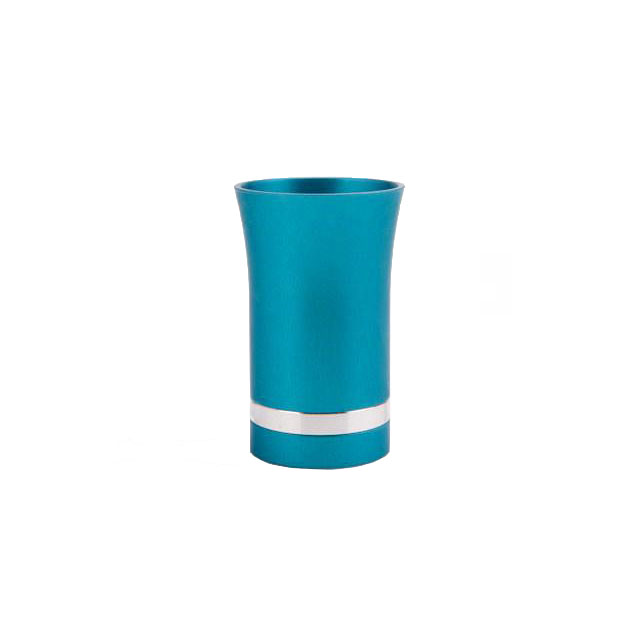 Modern-Style Small Kiddush Cup - bright-teal - Baltinester Jewelry