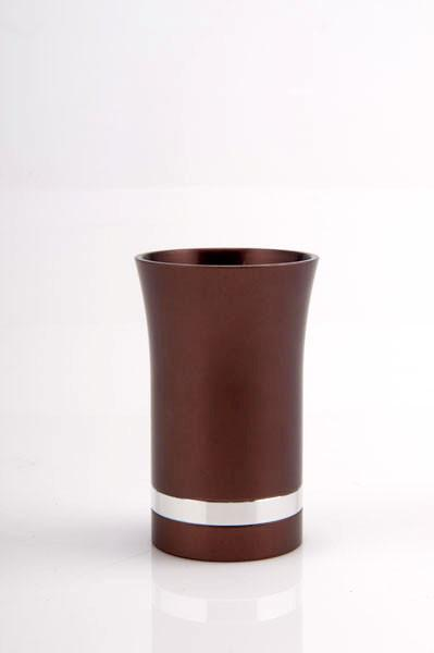 Modern-Style Small Kiddush Cup - Brown - Baltinester Jewelry