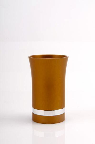 Modern-Style Small Kiddush Cup - Gold - Baltinester Jewelry