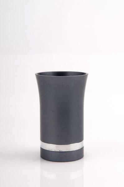 Modern-Style Small Kiddush Cup - Gray - Baltinester Jewelry