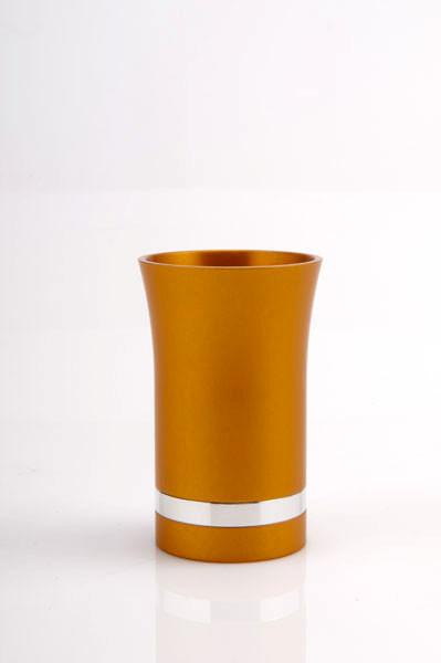 Modern-Style Small Kiddush Cup - Orange - Baltinester Jewelry