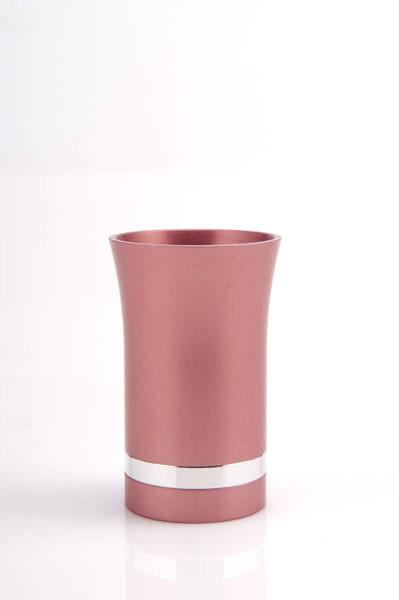 Modern-Style Small Kiddush Cup - Pink - Baltinester Jewelry