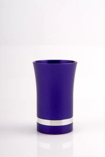 Modern-Style Small Kiddush Cup - Purple - Baltinester Jewelry
