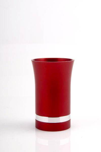 Modern-Style Small Kiddush Cup - Red - Baltinester Jewelry