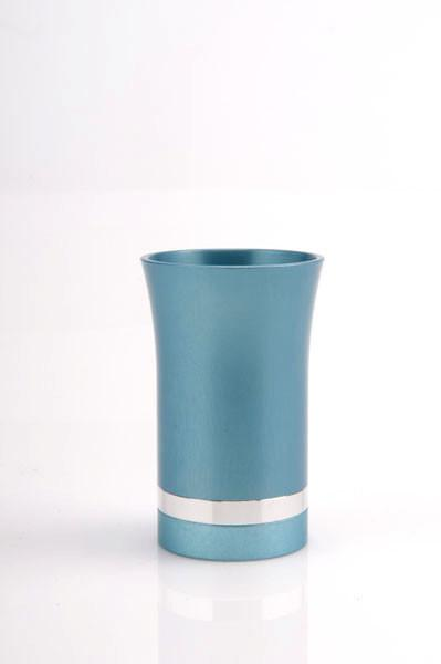 Modern-Style Small Kiddush Cup - Teal - Baltinester Jewelry