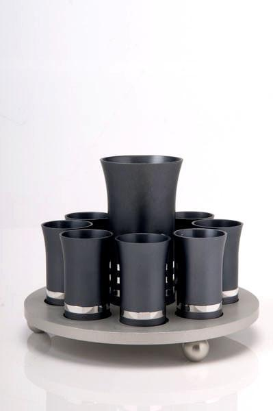 Kiddush Cup Set for 8 - Gray - Baltinester Jewelry