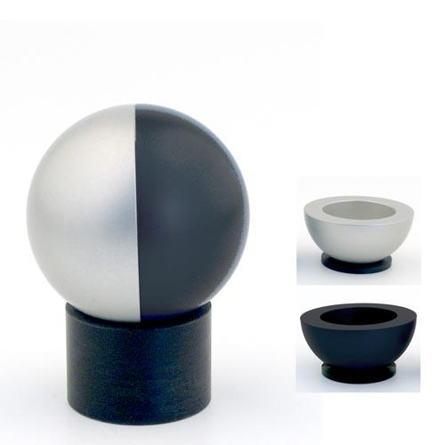 Dual-Colored Ball Traveling Candle Holders - Black - Baltinester Jewelry