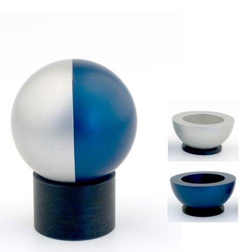 Dual-Colored Ball Traveling Candle Holders - Blue - Baltinester Jewelry