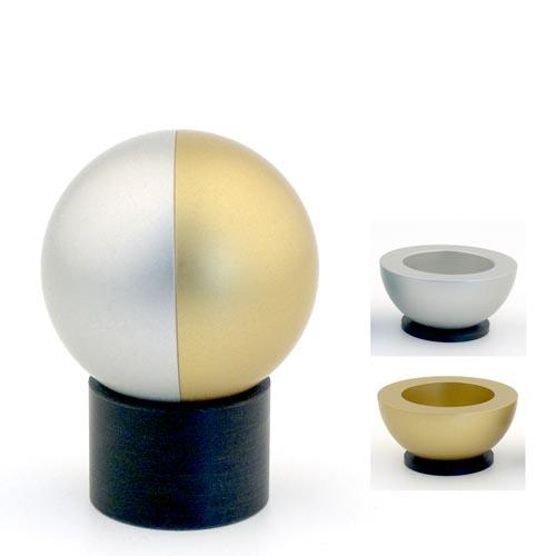 Dual-Colored Ball Traveling Candle Holders - Gold - Baltinester Jewelry