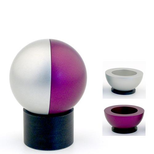 Dual-Colored Ball Traveling Candle Holders - Purple - Baltinester Jewelry