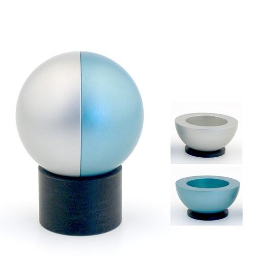 Dual-Colored Ball Traveling Candle Holders - Teal - Baltinester Jewelry