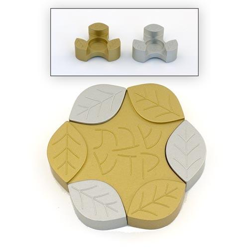 Travel-Size Small Leaves Candle Holders - Gold - Baltinester Jewelry