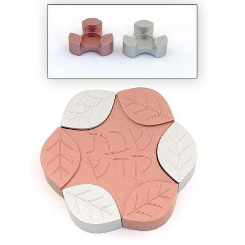Travel-Size Small Leaves Candle Holders - Pink - Baltinester Jewelry