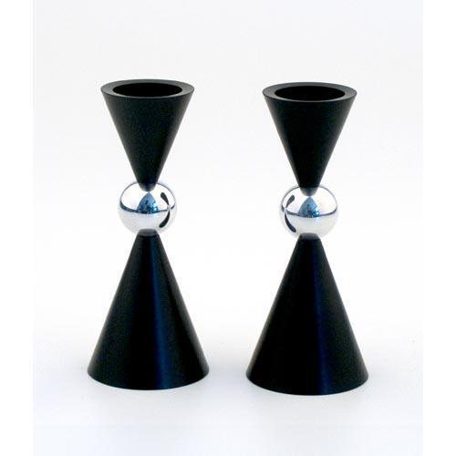 Modern Mini Ball Candle Holders - Black - Baltinester Jewelry