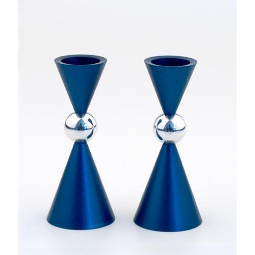 Modern Mini Ball Candle Holders - Blue - Baltinester Jewelry