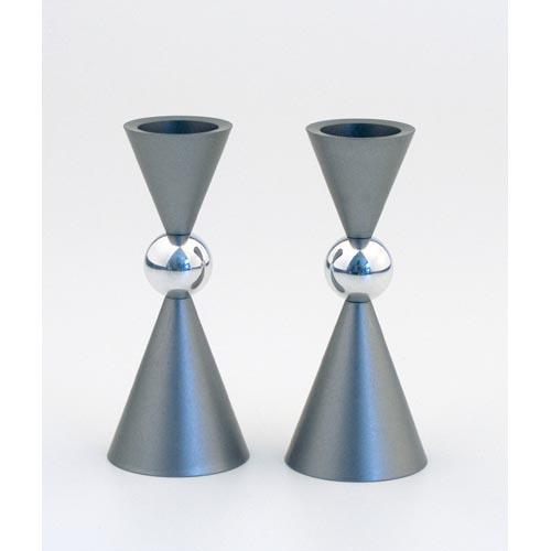 Modern Mini Ball Candle Holders - Gray - Baltinester Jewelry