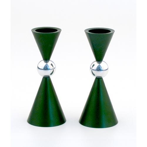 Modern Mini Ball Candle Holders - Green - Baltinester Jewelry