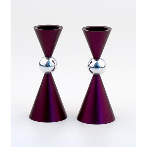 Modern Mini Ball Candle Holders - Purple - Baltinester Jewelry