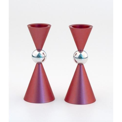 Modern Mini Ball Candle Holders - Red - Baltinester Jewelry
