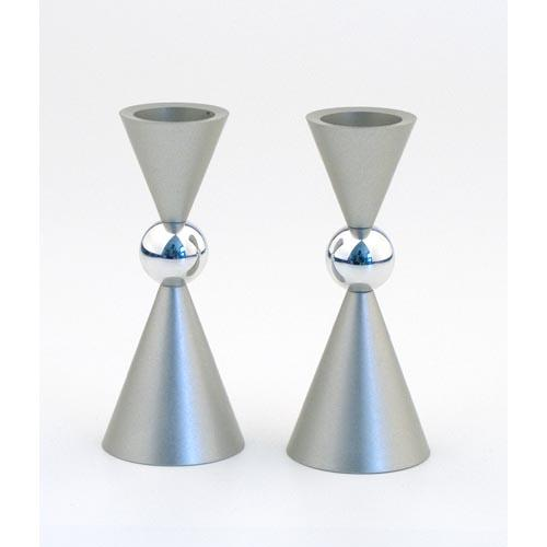 Modern Mini Ball Candle Holders - Silver - Baltinester Jewelry