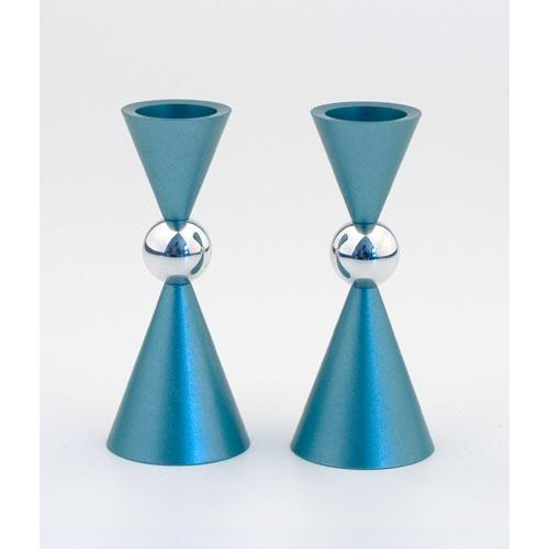 Modern Mini Ball Candle Holders - Teal - Baltinester Jewelry