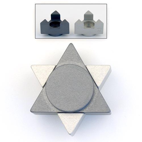Magen David Travel Candle Holders - Gray - Baltinester Jewelry
