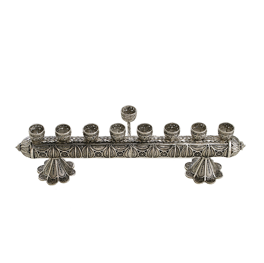 Intricate Sterling Silver Hanukkah Menorah - Baltinester Jewelry