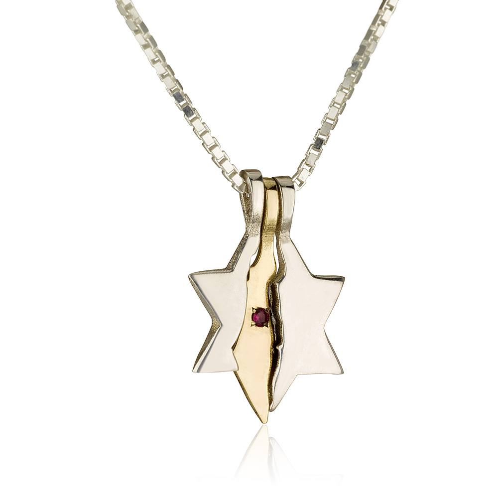 Land of Israel Star of David Pendant 2 - Baltinester Jewelry