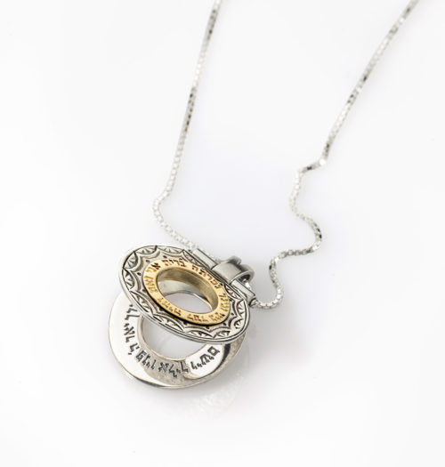 Eternal Covenant Silver & Gold Hinged Pendant 2 - Baltinester Jewelry