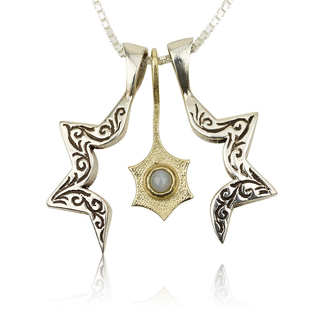 Three-Piece Star of David and Jonathan Pendant 2 - Baltinester Jewelry