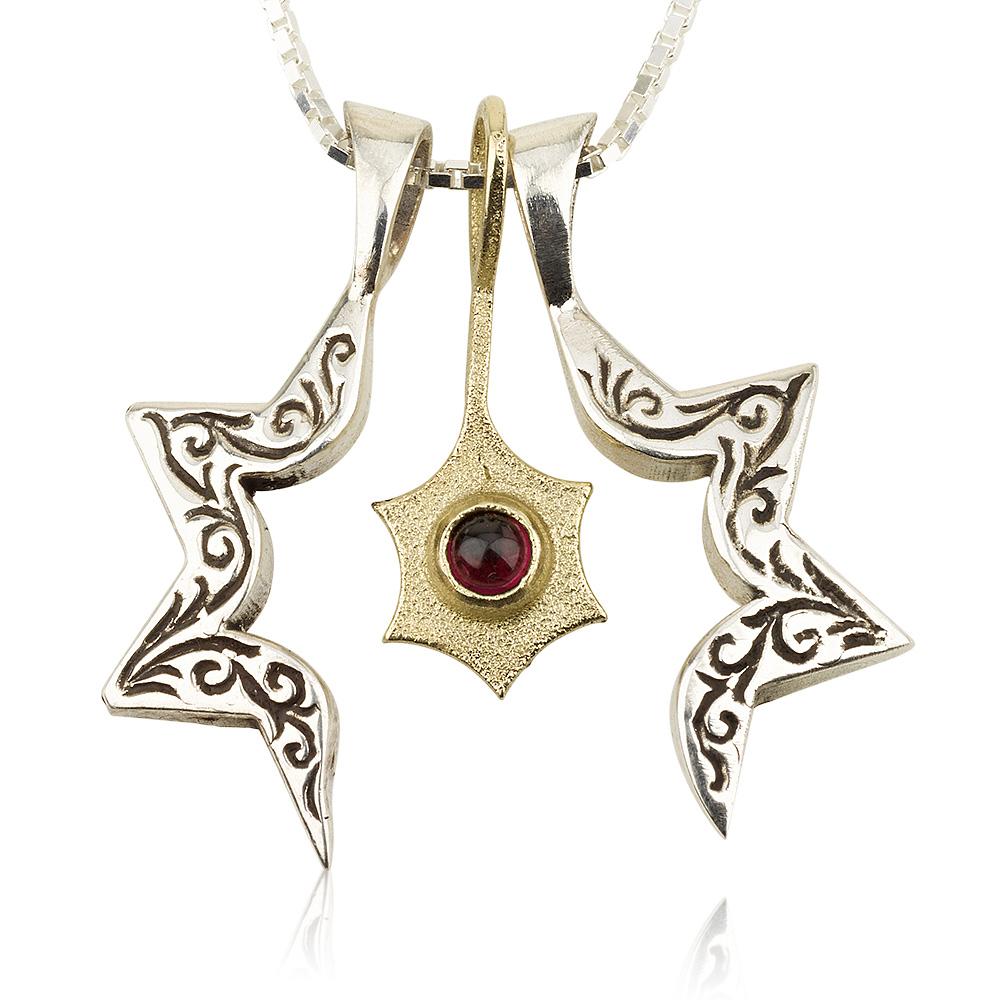 Three-Piece Star of David and Jonathan Pendant 3 - Baltinester Jewelry