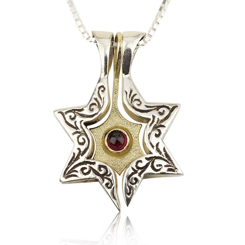 Three-Piece Star of David and Jonathan Pendant 4 - Baltinester Jewelry