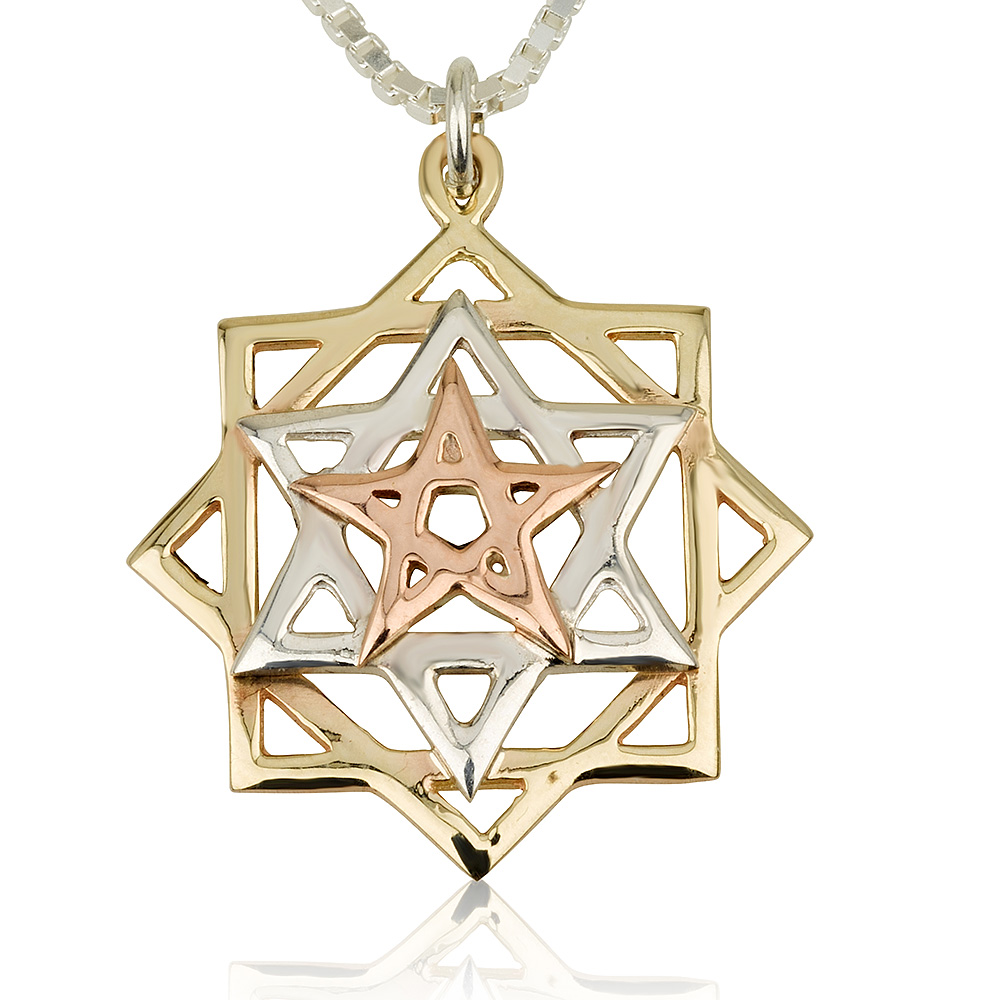 Tricolor Eve's Rectification Kabbalah Pendant - Baltinester Jewelry