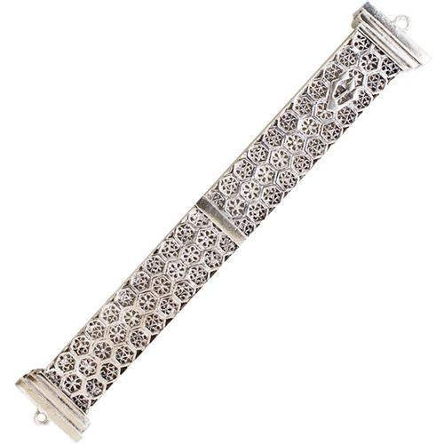 Sterling Silver Box Style Filigree Mezuzah - Baltinester Jewelry
