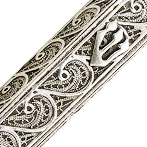 Sterling Silver Filigree Style Mezuzah Case 2 - Baltinester Jewelry