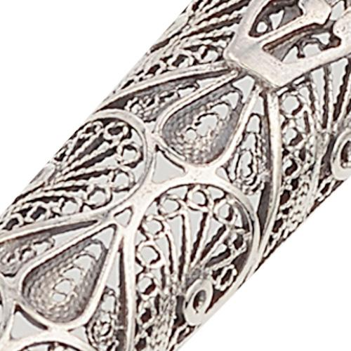 Silver Filigree Cone Shaped Mezuzah 2 - Baltinester Jewelry