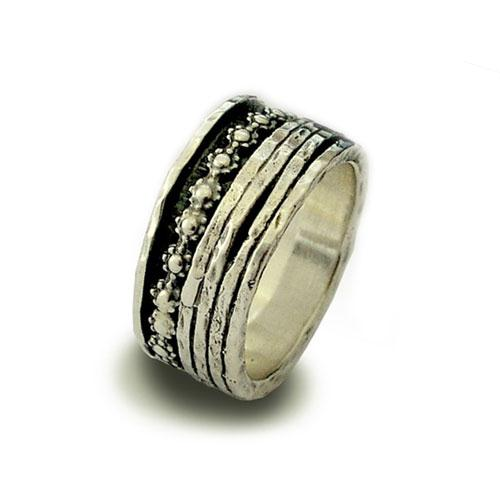 Sterling Silver Floral Spinner Ring - Baltinester Jewelry
