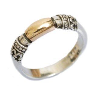 Silver and Gold Yemenite Ring - Baltinester Jewelry