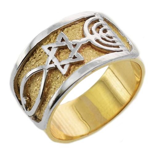 14K Gold Two Tone Grafted-In Ring - Baltinester Jewelry